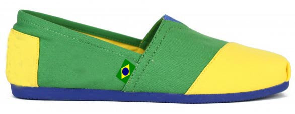 Alpargata Style Shoe, Yellow & Green