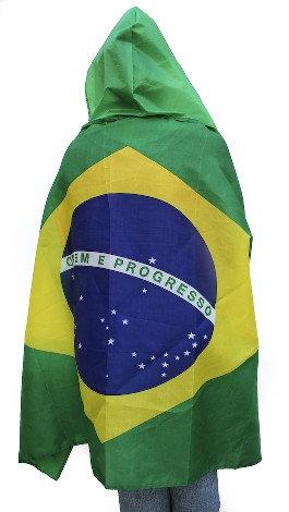 BrBoFl - Brazil Body Flag w/Hat , 150 x 90cm