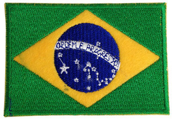 PaFaBrFl - Patch Fabric Brazil Flag 6*8.5cm