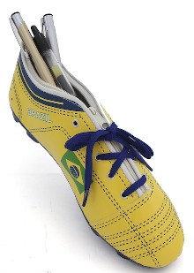Brazil Soccer Shoe Pencil Case w/Zipper
