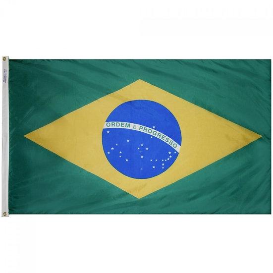 Brazil Flag 3 x 5 poliester - BrFl3x5