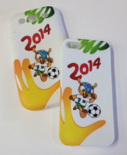 Samsung S4. World Cup White Cellphone Cover