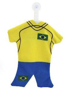 BrMiHaFl - Brazil Mini Hanging Flag Poliester