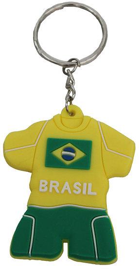 Brazil Silicone Key Chain