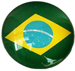 Brazil Magnetic Small Glass Brazil Soccer League