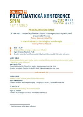Program_POLYTEMATICKÁ_KONFERENCE_SPIM_2