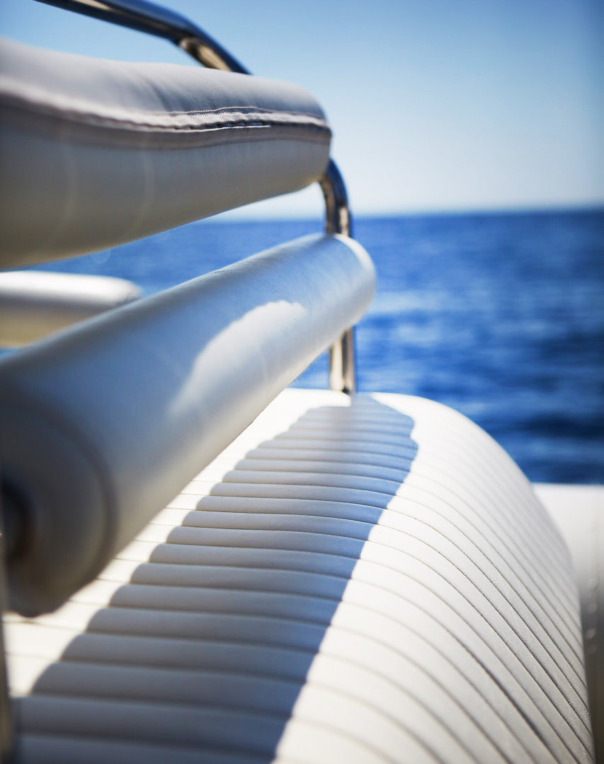 Detail of Scorpion 810 G2, available for charter around the Greek Cycladic islands.