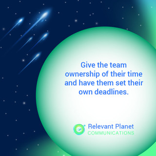 Team deadlines
