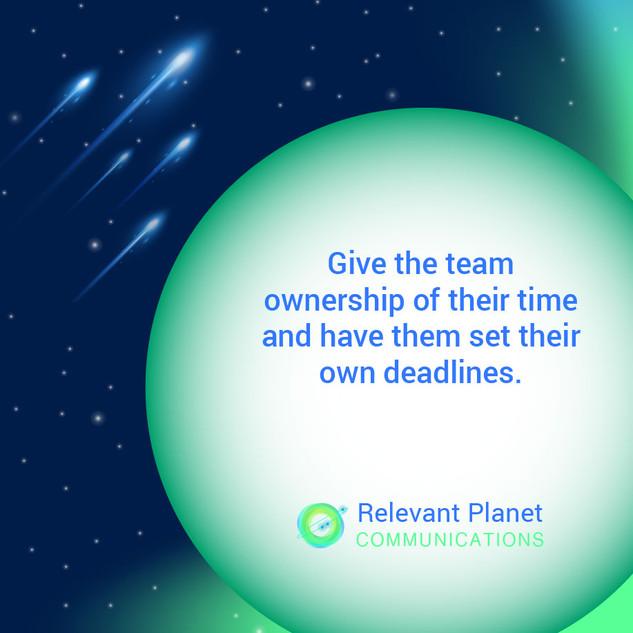 Team deadlines