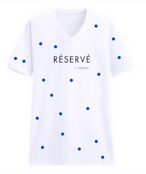 Signature White Blue Polka Dot
