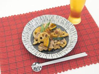 筋肉飯!豚肉とかぼちゃの辛炒め煮