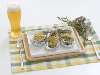 ほうれん草と牡蠣のカレーグラタン