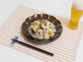 筋肉飯!鶏と高野豆腐のクリーム煮