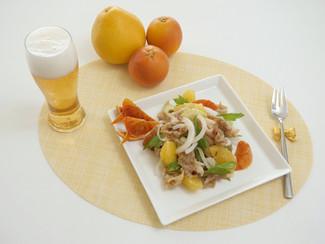 揚げ豚のオレンジマリネ