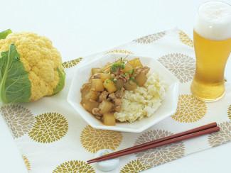 U500kcal★カリフラワーご飯のマーボー大根丼