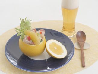 河内晩柑と真鯛の寿司サラダ