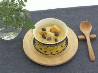 豆とかぼちゃの温かいチェー