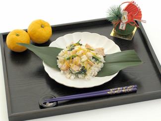 鮭と春菊のちらし寿司