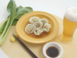小松菜たっぷりスープ餃子