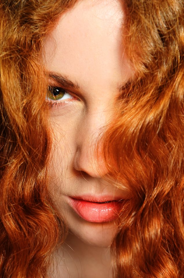 ritratto studio hair red
