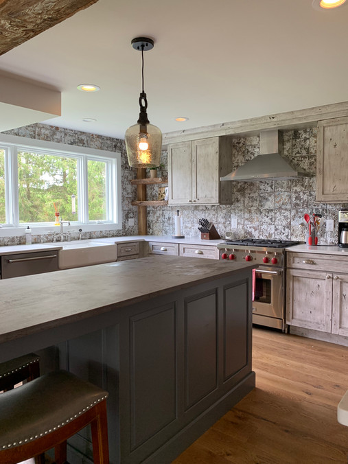 Rustic Two Tone Kitchen