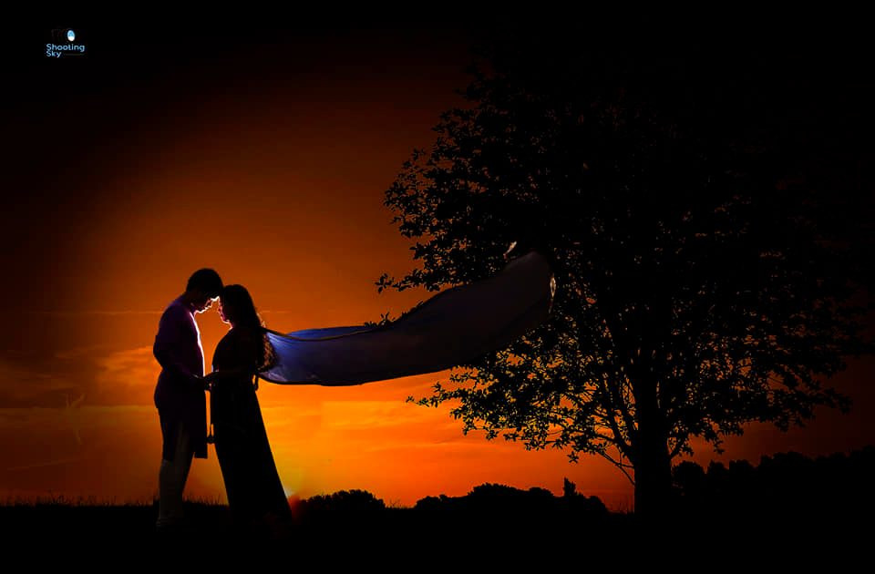 Pre-wedding shooting sky studio