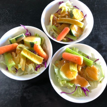 Ichibiri Salad with Ginger Dressing
