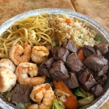 Filet Mignon & Shrimp Teppanyaki Combination