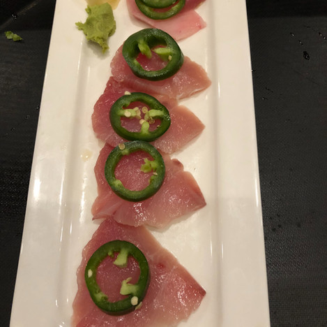 Yellowtail Sashimi with Jalapeno