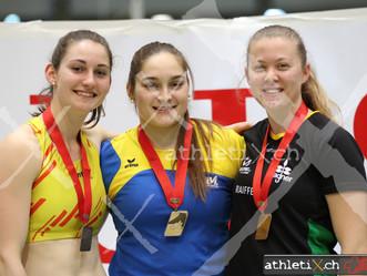 Bronze im Kugelstossen für Chantal Winz an Hallen-Nachwuchs-SM