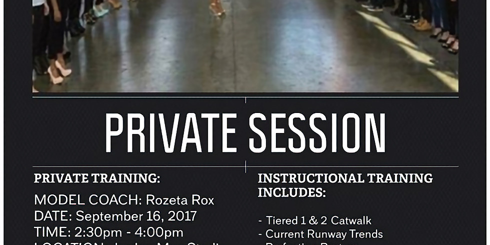 Runway Training: Private Session