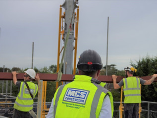 Topping out at Harper House, Ashford