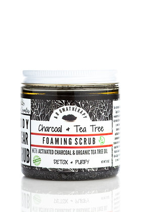 Charcoal & Tea Tree Foaming Sugar Scrub