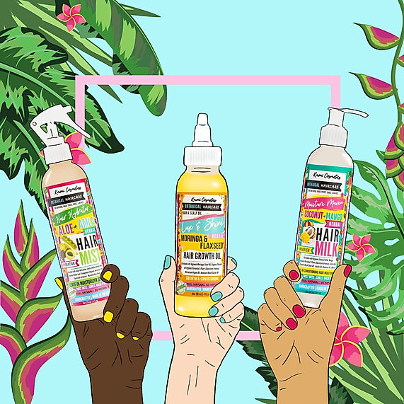 Kmoni Cosmetics Botanical Haircare Illustration