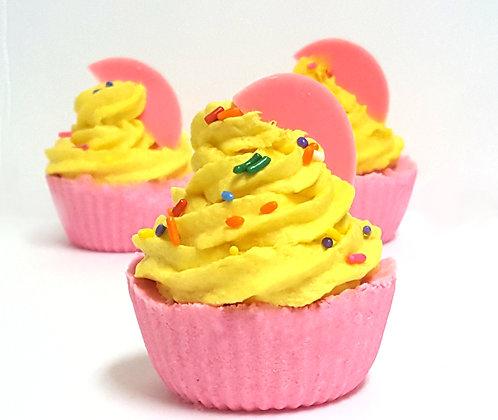 Pink Lemonade Cupcake Bath Bomb