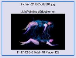 2017 - Lightpainting  dedoublement