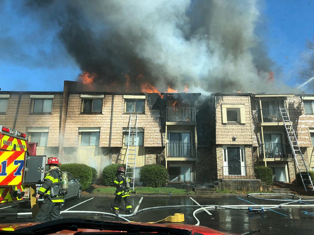 multiple alarm apartment fire