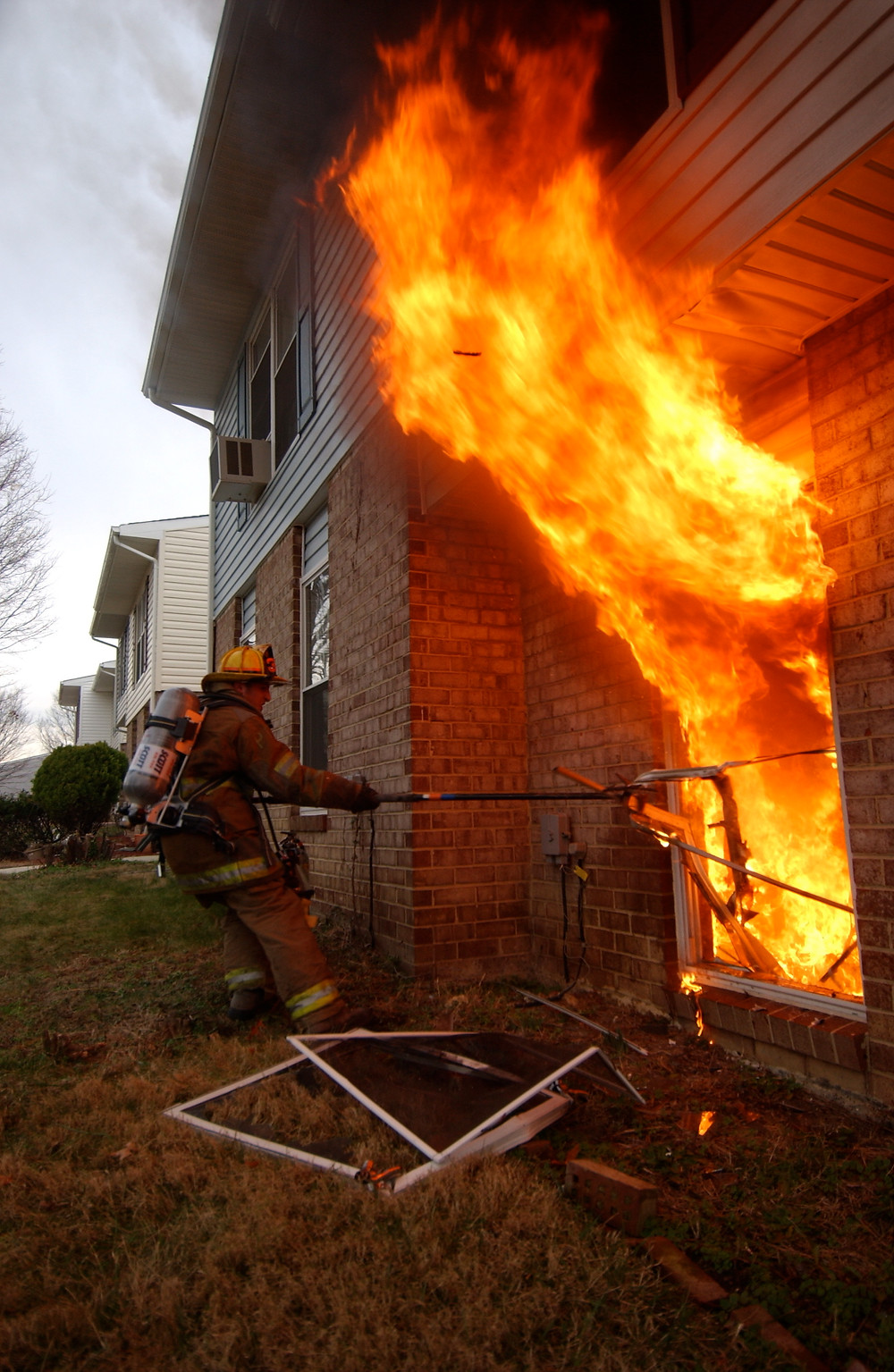 horizontal ventilation at house fire