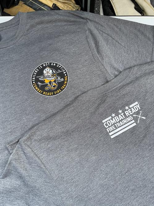"""Soft Grey """"Failure Is Not An Option"""" t-shirt"""