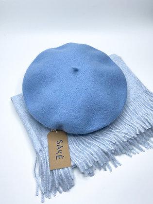 sky blue beret