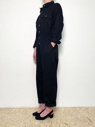 black workwear jumpsuit