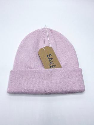 light pink beanie