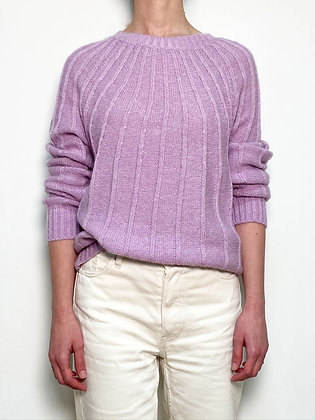 lilac knitted wool blend sweater