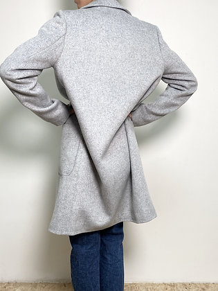 light grey wool blend long coat