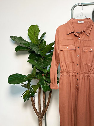 ocher workwear jumpsuit