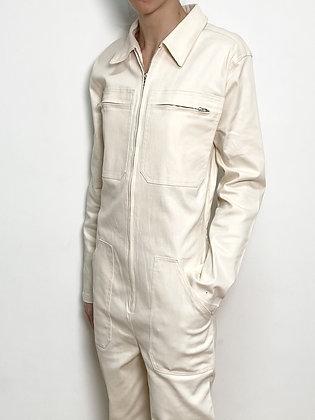 beige workwear jumpsuit
