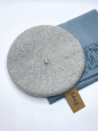 light grey beret