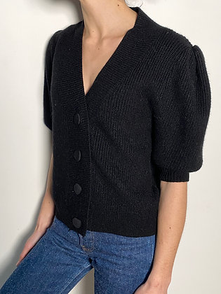 black boxy cardigan