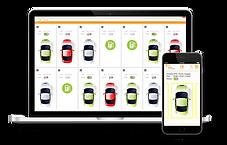 Applikation smartJuice gesteuert über Laptop und Smartphone
