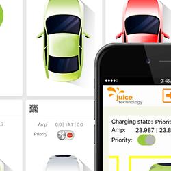 smartJuice Lastmanagement bedient durch Smartphone und Tablet